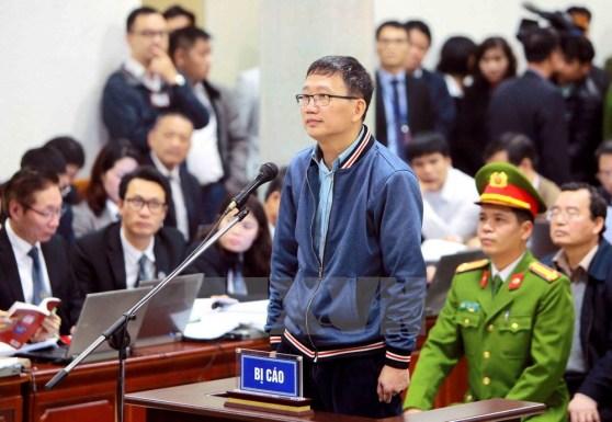 Bị cáo Trịnh Xuân Thanh trả lời HĐXX phần kiểm tra căn cước.