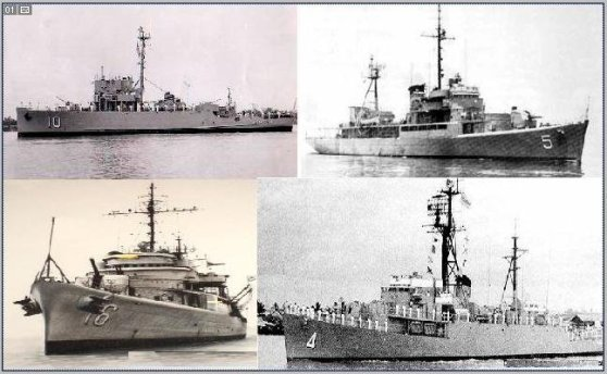 Bốn chiến hạm của hải quân Việt Nam cộng hòa tham dự trận hải chiến Hoàng Sa năm 1974