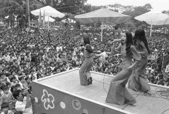 Ban nhạc CBC biểu diễn ở Sài Gòn năm 1974