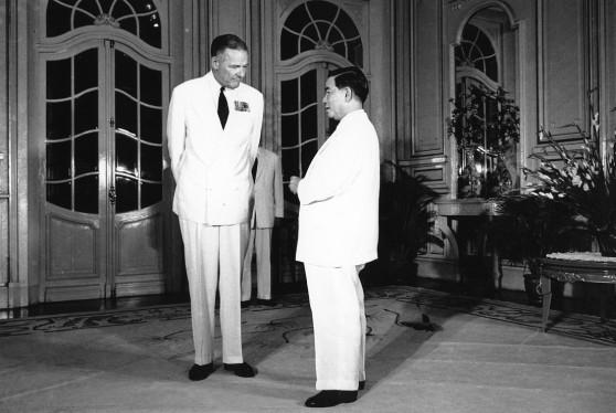 Henry Cabot Lodge và Tổng thống Ngô Đình Diệm tại Sài Gòn, tháng 8 năm 1963