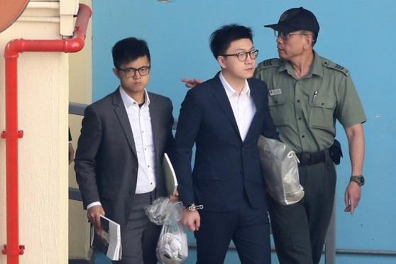 Lương Thiên Kỳ - giữa - cha đẻ của khẩu hiệu - Quang Phục Hương Cảng - South China Morning Post